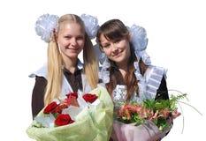 美丽的女小学生 库存图片