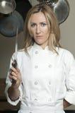 美丽的女性主厨 免版税库存照片