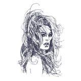 美丽的女性头发 免版税库存图片