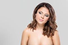 美丽的女性模型纵向 库存照片