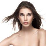 美丽的女性模型纵向 免版税库存照片