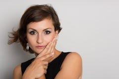 美丽的女性模型纵向 免版税图库摄影