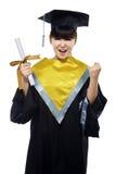 美丽的女性毕业生 免版税库存照片