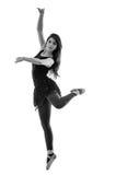 美丽的女性跳芭蕾舞者剪影  免版税库存图片