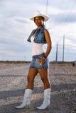 美丽的女牛仔 库存图片