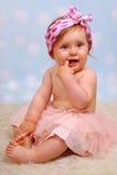 美丽的女婴, 10个月 免版税图库摄影