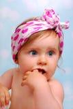 美丽的女婴, 10个月 免版税库存照片