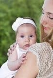 美丽的女婴 库存图片