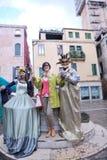 美丽的妇女在威尼斯 免版税库存照片