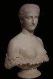 美丽的妇女大理石胸象  免版税库存照片