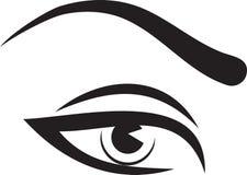 妇女眼睛和眉头 库存照片