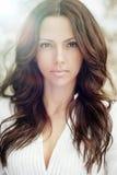 美丽的妇女面孔-完善的皮肤 库存照片