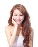 美丽的妇女面孔 免版税图库摄影
