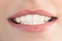 美丽的妇女嘴嘴唇 库存照片