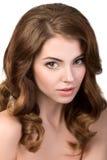 年轻美丽的妇女画象  免版税图库摄影