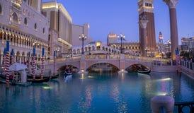 美丽的威尼斯式旅馆和赌博娱乐场在拉斯维加斯 库存图片