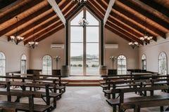 美丽的婚礼教堂 免版税库存图片