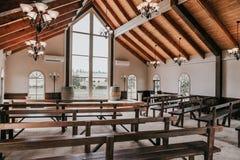 美丽的婚礼教堂 库存图片
