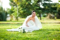 美丽的婚礼新娘 免版税图库摄影