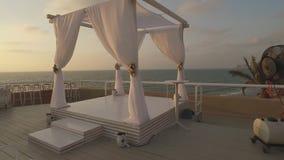 美丽的婚礼曲拱 股票视频