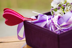 美丽的婚礼篮子 免版税库存图片