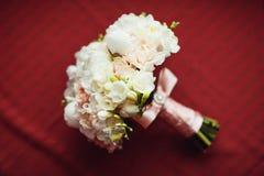 美丽的婚礼花束的特写镜头图象 库存照片