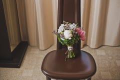 美丽的婚礼花束3738 免版税库存照片