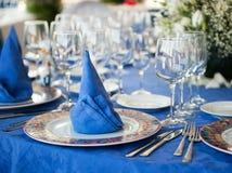 美丽的婚礼表 免版税图库摄影