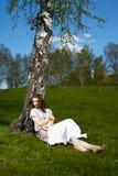 美丽的嬉皮女孩 图库摄影
