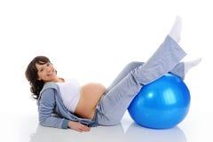 美丽的孕妇 免版税库存照片
