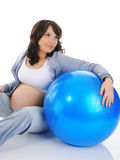 美丽的孕妇 库存照片