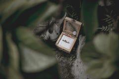 美丽的定婚戒指和鞋子 库存图片