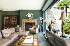 美丽的客厅 免版税库存图片
