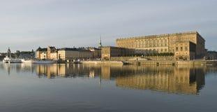 美丽的宫殿皇家斯德哥尔摩视图 免版税库存照片