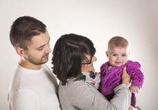 小家庭 免版税库存照片