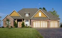 美丽的家庭房子 免版税库存照片