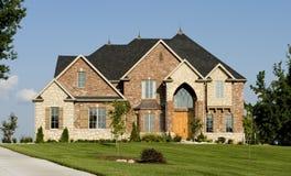 美丽的家庭房子 库存照片