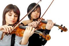 美丽的小提琴手 免版税库存图片