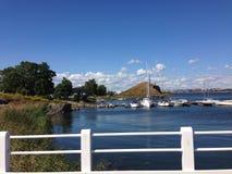 美丽的小港口在芬兰堡 免版税库存照片