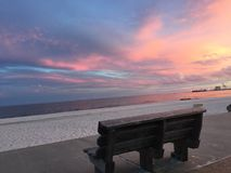 美丽的小游艇船坞在Gulfport密西西比 免版税库存照片