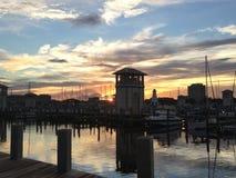 美丽的小游艇船坞在Gulfport密西西比 免版税图库摄影