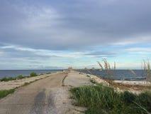 美丽的小游艇船坞在Gulfport密西西比 免版税库存图片