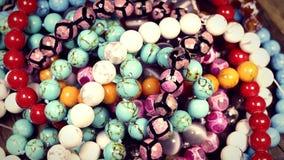 美丽的小珠jewelery当时尚背景 股票录像