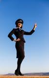 美丽的少妇空中小姐 图库摄影