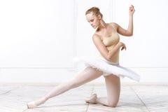 美丽的少妇芭蕾舞女演员 免版税库存图片