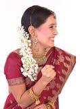 美丽的少年女孩印第安快活的心情 免版税库存图片