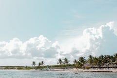美丽的尤加坦海岸 库存照片