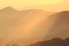美丽的山。 库存照片