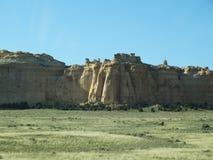 美丽的山和岩石格式在犹他和内华达 图库摄影