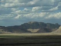美丽的山和岩石格式在犹他和内华达 库存照片